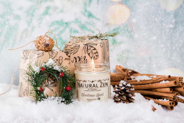 Christmas Spirit Holiday candles - candelilla and coconut