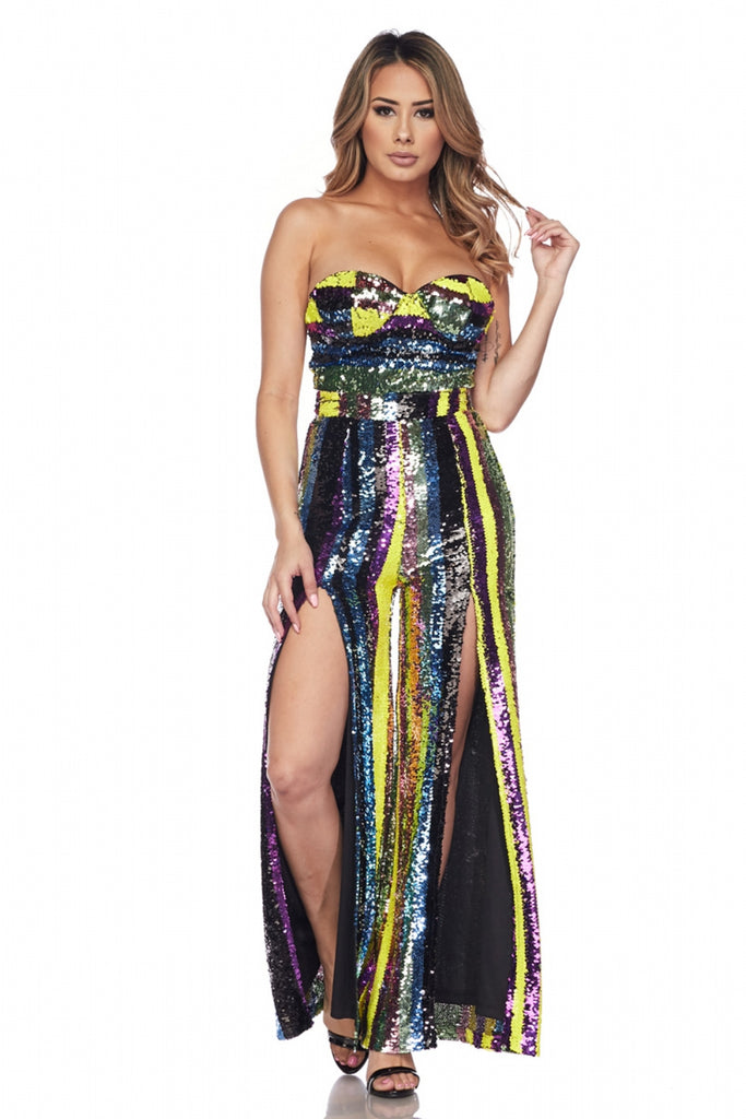 Sequin Bustier Jumpsuit