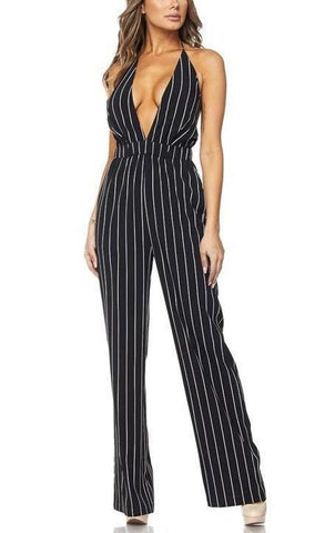Striped Halter Jumpsuit*