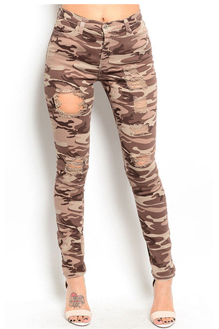 Brown Camouflage Pants