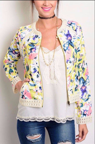 Multicolored Print Jacket