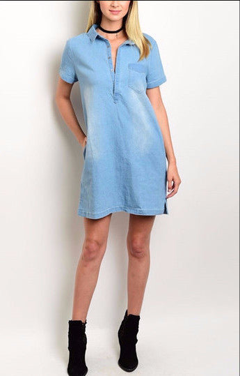 Denim Light Shirt Dress