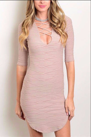 Bodycon LaceUp Dress