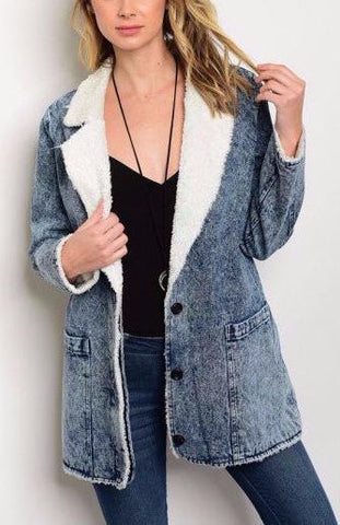 Denim Wash Coat