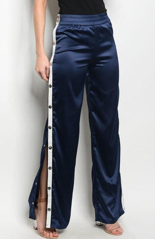 Satin High-Waist Pants