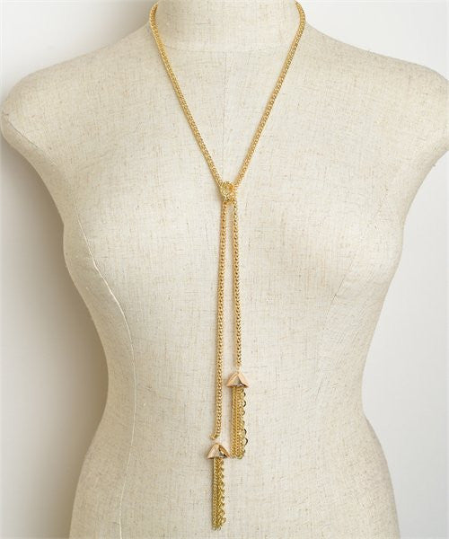 Double Drop Chain Necklace