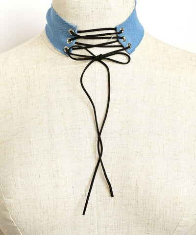 Choker-Denim