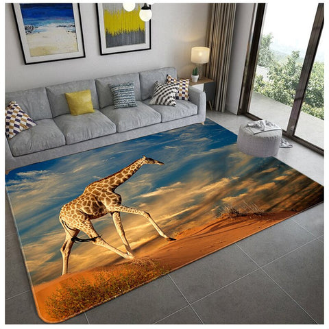 Tapis Photo de Girafe