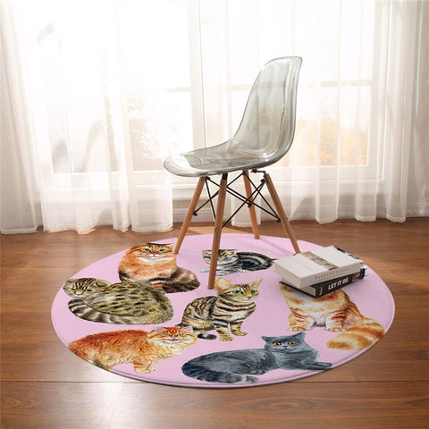 Tapis Chat Rose multiples et multicolores