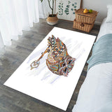 Grand Tapis Hibou Vertical