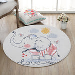 Tapis Eléphant Rond Living Exemple