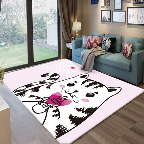 Tapis Chat Rose Chambre pour Fille