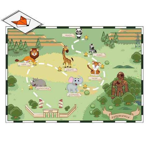 Tapis Animaux<br> Carte du Zoo
