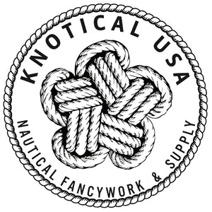 Star Knot logo for nautical knots, fancy rope work, rope knots, with rope border, cord