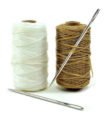Waxed Sail Twine with Needle