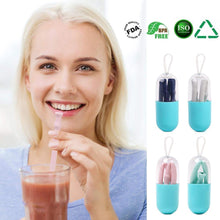 Load image into Gallery viewer, Silicone Straw Drinking Reusable,4PCS