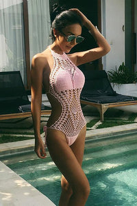 New Knitted One Piece Swimsuit.LI