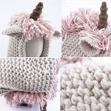 Load image into Gallery viewer, Crochet Cartoon Unicorn Winter Hat With Scarf Pocket