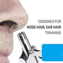 Load image into Gallery viewer, Safe Touch Stainless Steel Nose Hair Trimmer