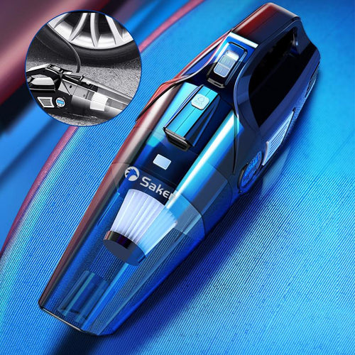 4-in-1 Portable Car Vacuum Cleaner, with LCD Display