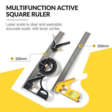 Load image into Gallery viewer, Multifunction Active Square Ruler Angle Ruler