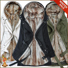 Load image into Gallery viewer, Ladies Winter Coat With Removable Faux Fur