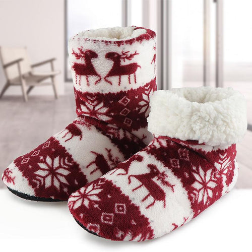 Christmas Fleece Indoor Boots