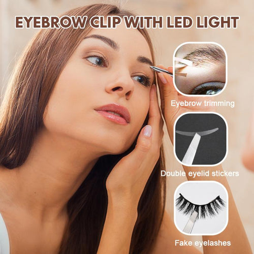 Eyebrow Clip with LED Light
