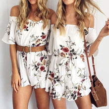 Load image into Gallery viewer, Summer Floral Chiffon Rompers