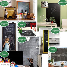 Load image into Gallery viewer, Black Chalkboard Stickers Adhesive Blackboard