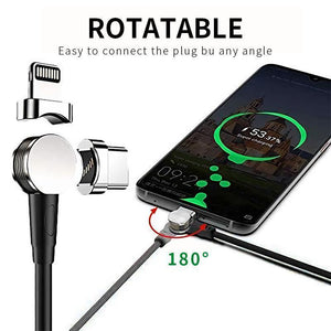 180 rotation Magnetic Charging Cable