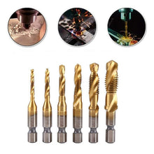 Load image into Gallery viewer, 6 Piece Metric Thread Tap Drill Bits Set