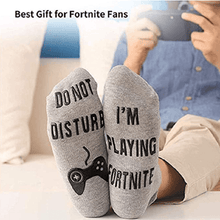Load image into Gallery viewer, Do Not Disturb I'm Playing Fortnite Funny Cotton Socks, 1 Pair