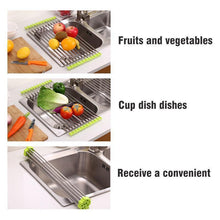 Load image into Gallery viewer, Stainless Steel Roll Up Dish Drying Rack, Foldable