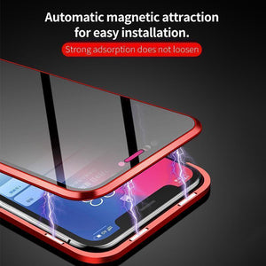 Anti-peep Magnetic iPhone Case( Double Side)