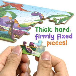 Wooden Dinosaur Puzzle (60 Pieces)
