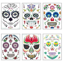Load image into Gallery viewer, Halloween Waterproof Temporary Tattoo Sticker