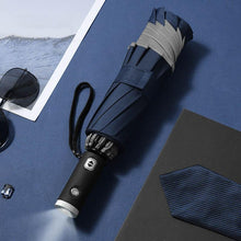 Load image into Gallery viewer, Automatic Folding Umbrella With Reflective Stripe