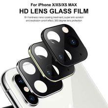 Load image into Gallery viewer, Iphone X Seconds Change 11 Pro Metal Glass Lens Cover
