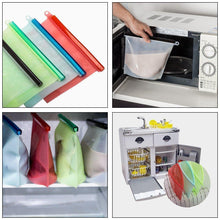 Load image into Gallery viewer, Silicone Food Storage Bags, 4 colors