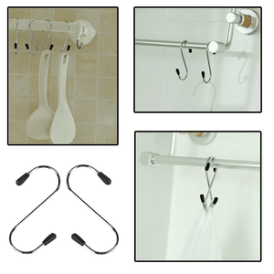 Hirundo Practical Stainless Steel S-type Hook ( 4 PCS )