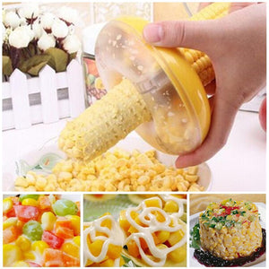 Corn Peeler with Circular Stainless Steel Blade Strips