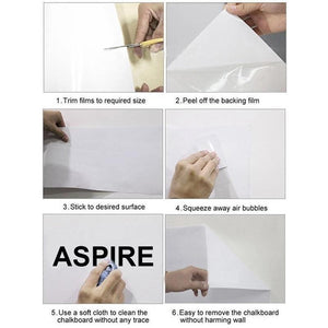 REUSABLE ROLL UP WHITE BOARD