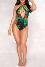 Load image into Gallery viewer, Printed One PC Swimwear&Cover Up