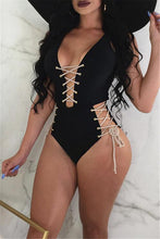 Load image into Gallery viewer, Solid Color Strapped One Piece Swimwear