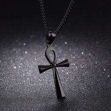 Load image into Gallery viewer, Stainless steel ancient Egyptian Cross men's Necklace