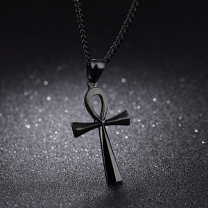 Stainless steel ancient Egyptian Cross men's Necklace