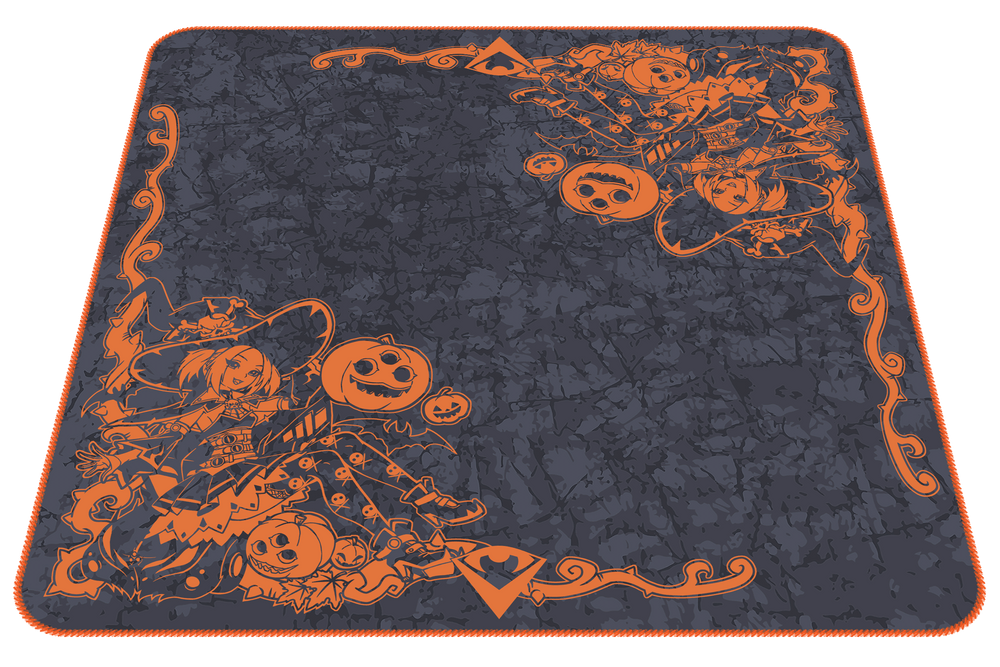 Witch Guide of the Halloworld Playmat | Pumpkin Orange (Odyssey Marble)