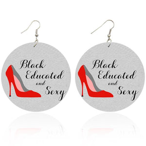 Black Educated and Sexy | Boucles d'oreilles africaines