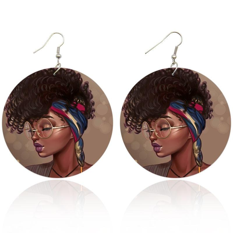 Girl with Glasses | Boucles d'oreilles africaines